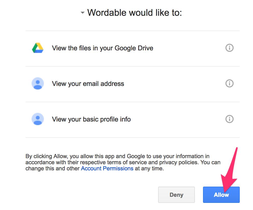 Connect googledocs wordable 1