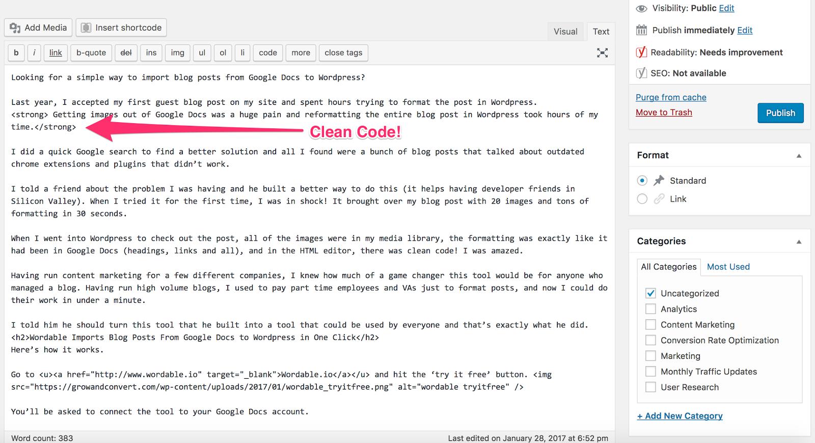 wordable clean code