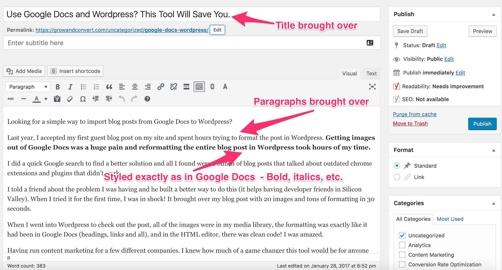 wordpress styling wordable