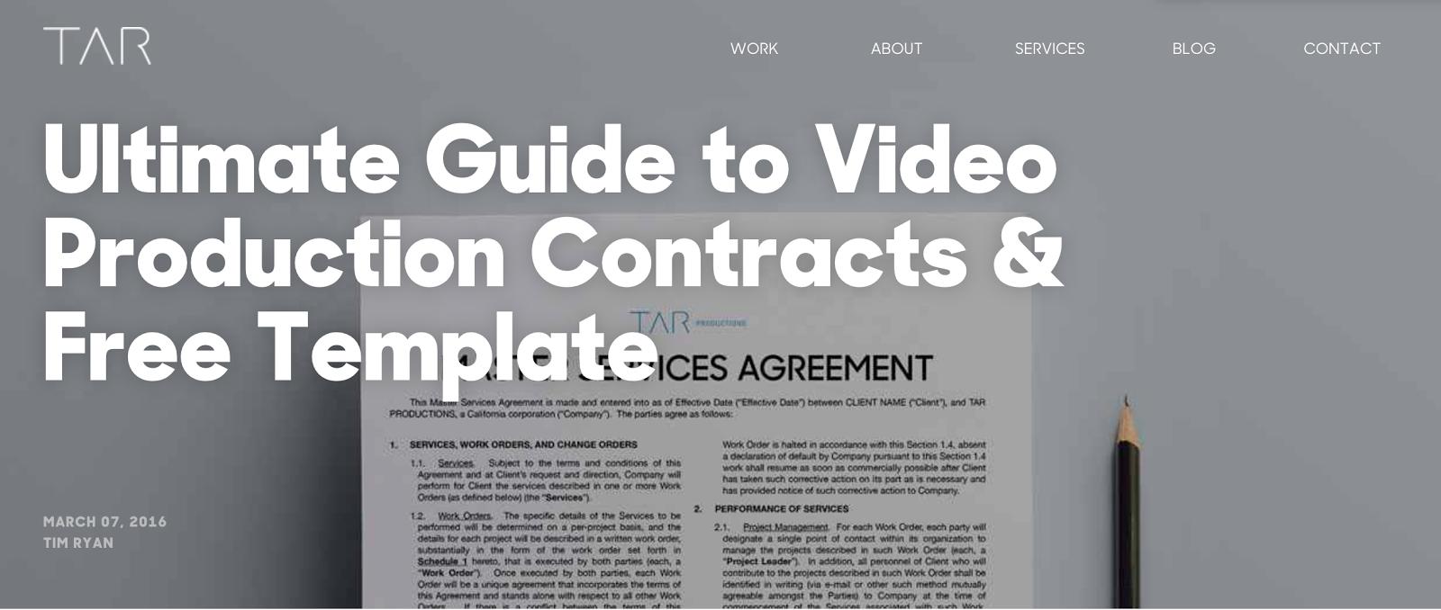 tarproductions videocontracts