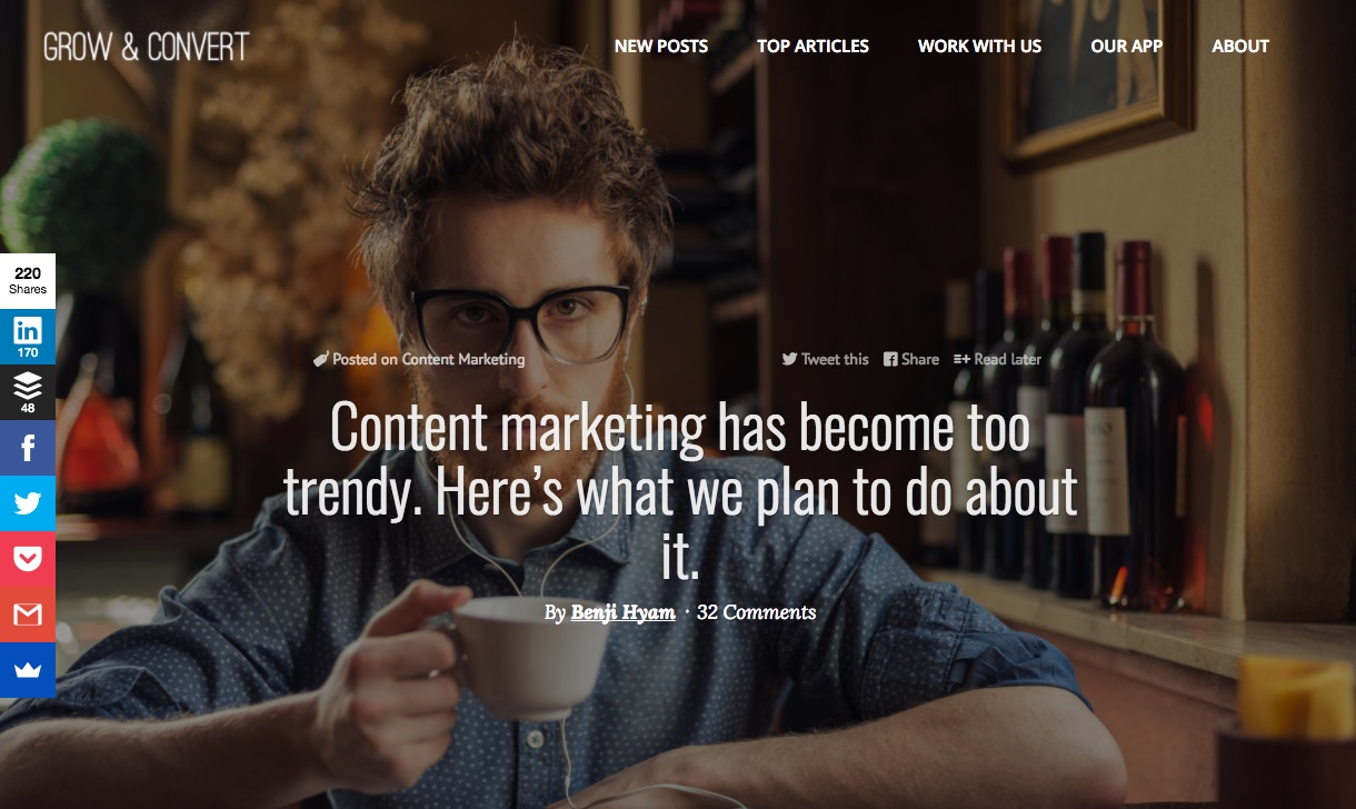 Content marketing has become too trendy Here s what we plan to do about it