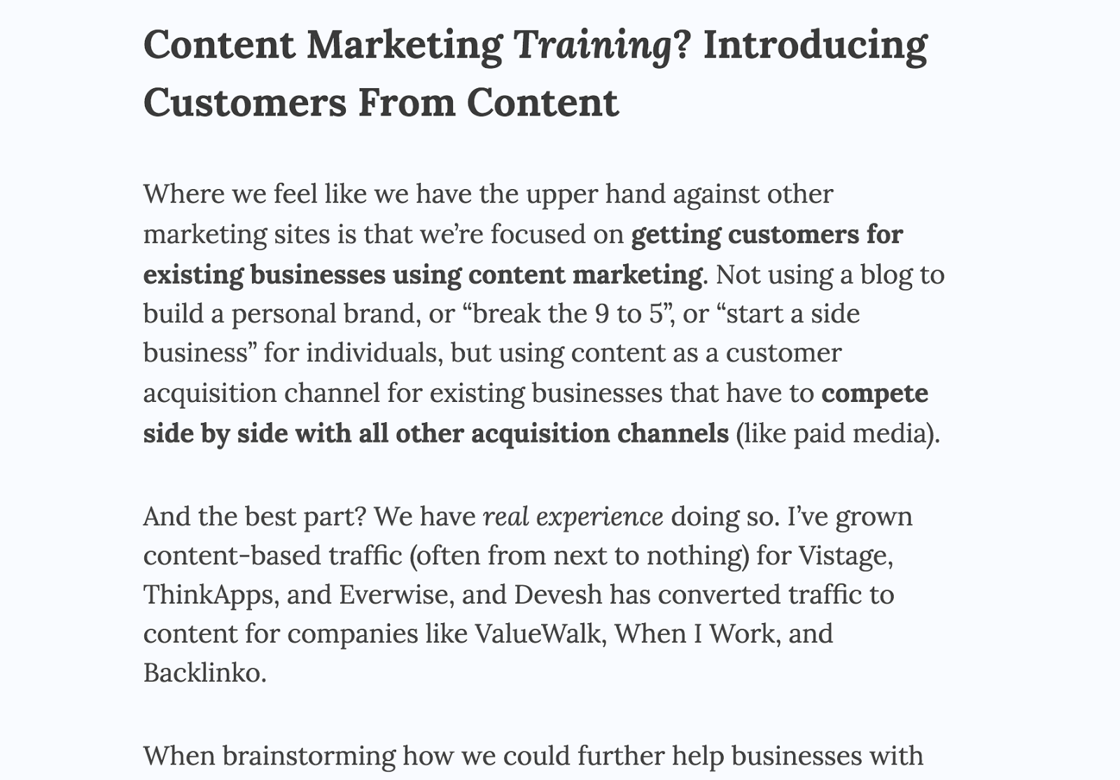 customersfromcontenttraining