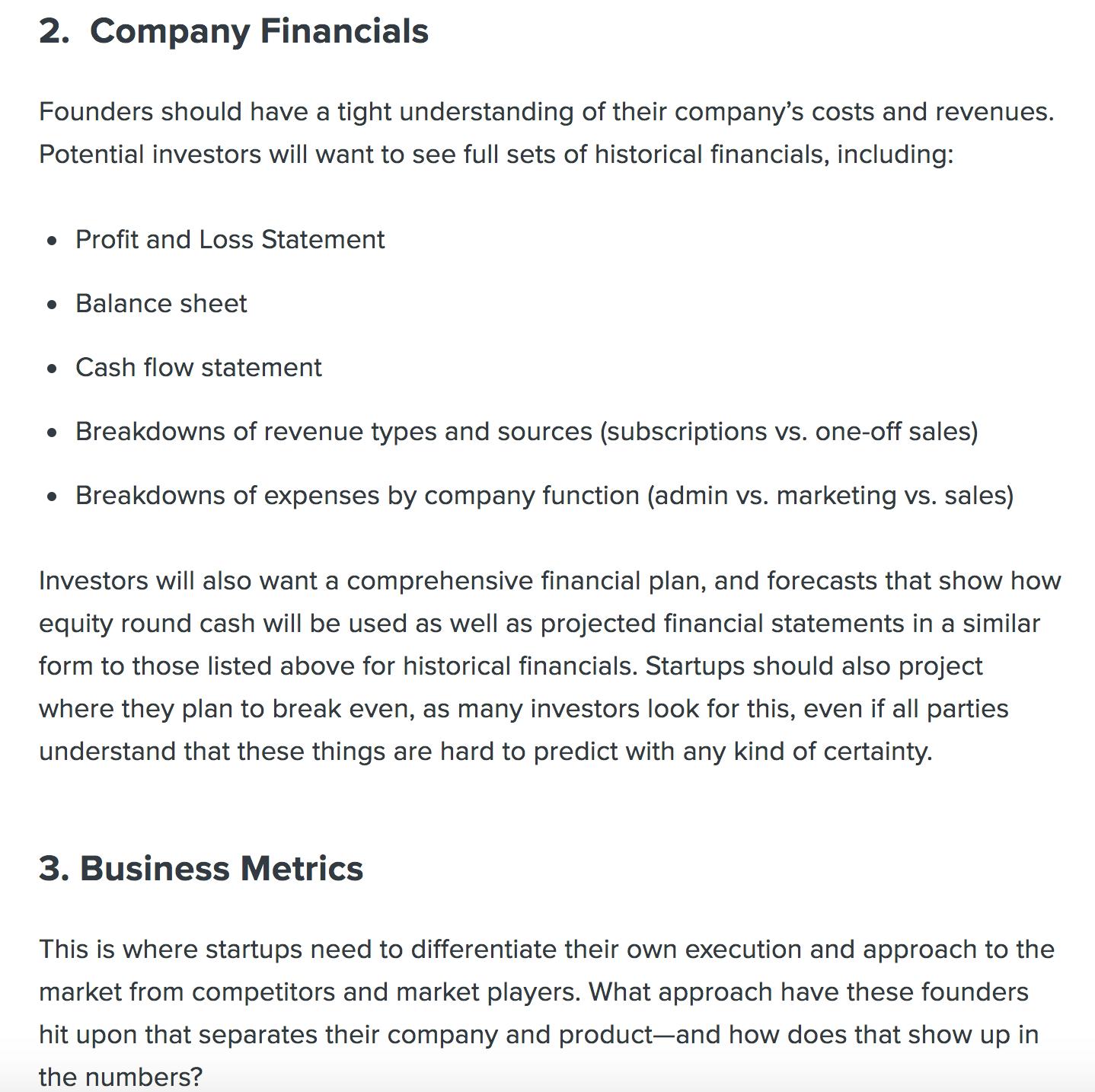 fundersclub series a checklist