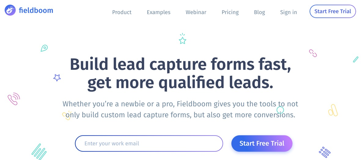 """Build lead capture forms fast, get more qualified leads"""