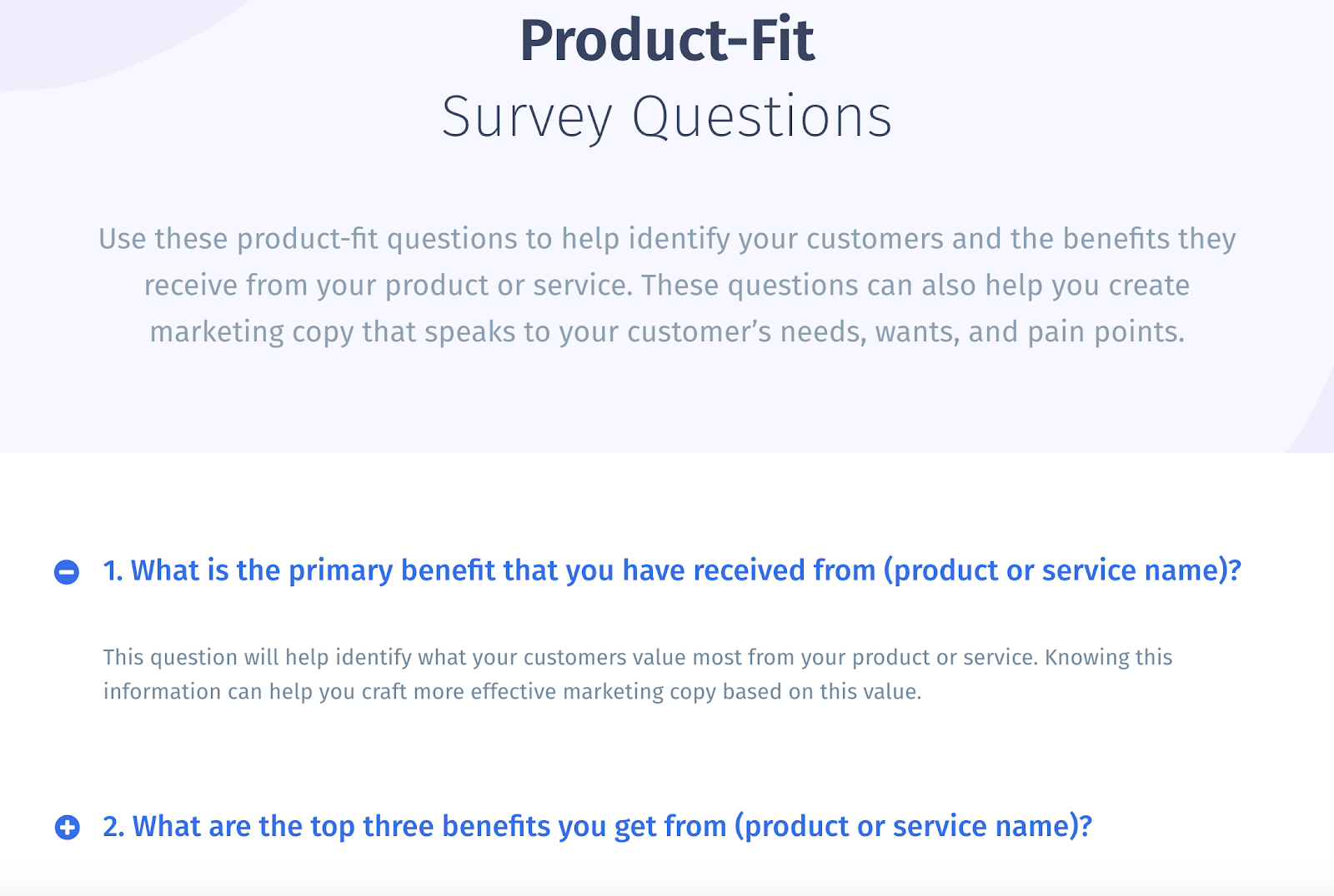 Product-Fit Survey Questions - Use these questions to identify your customers