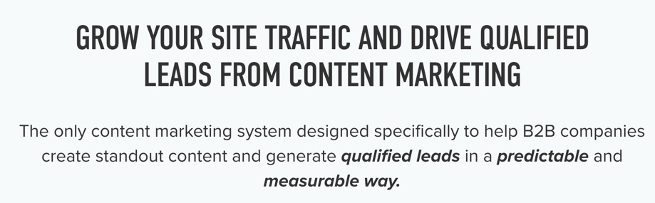 Grow your site traffic and drive qualified leads from content marketing