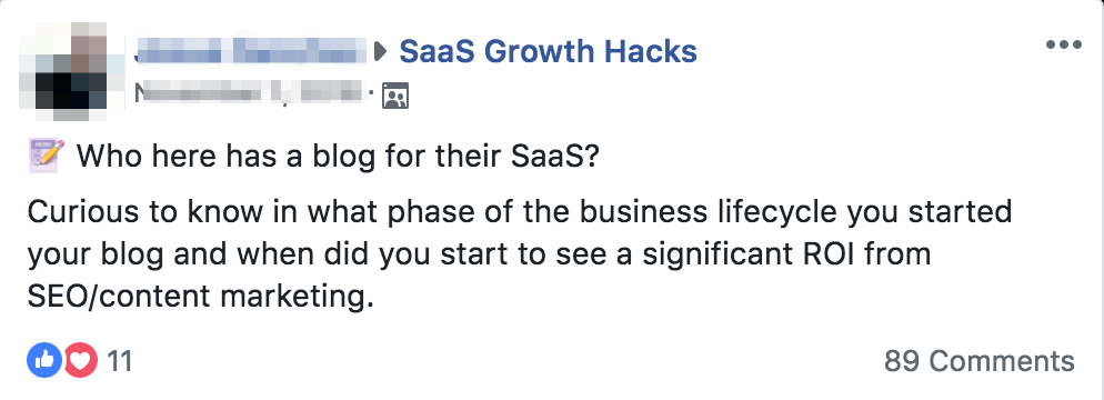 Facebook Content Ideas: Engagement in specific questions in a group is a good indicator that it's a hot topic.