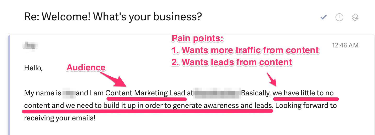 Asking our customers what their major pain points are.
