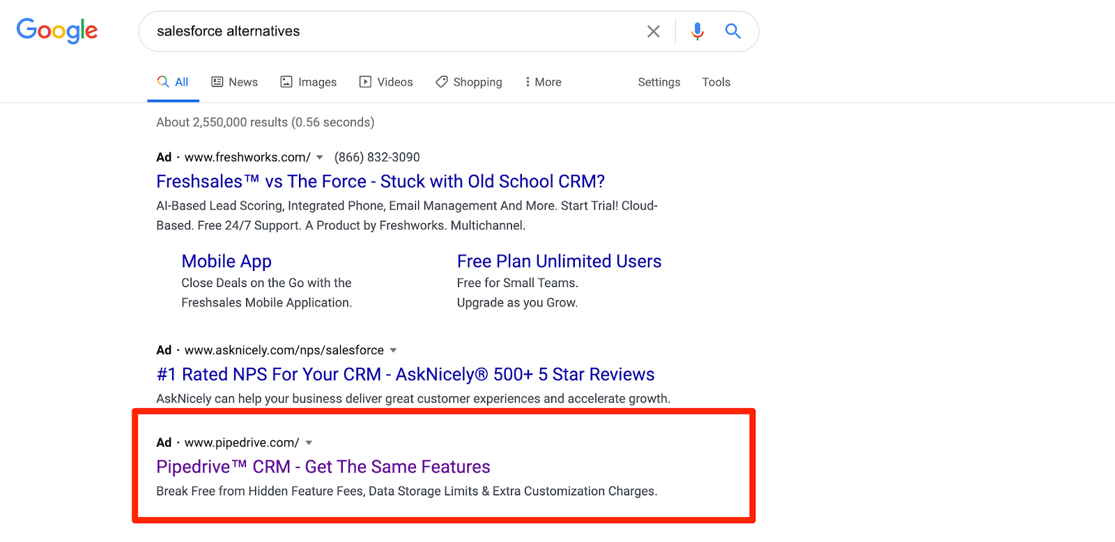 salesforce alternatives google search