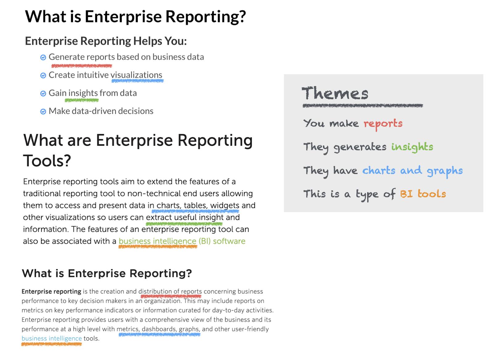 enterprise reporting image
